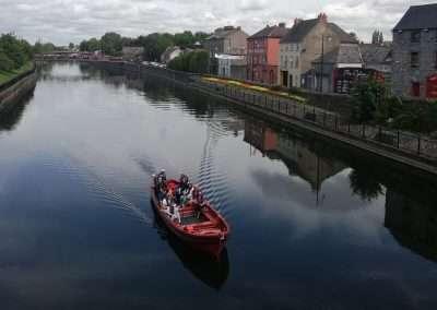boat on river Nore in Kilkenny