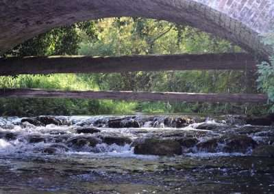 Bridge over the mouth of the small river Greese