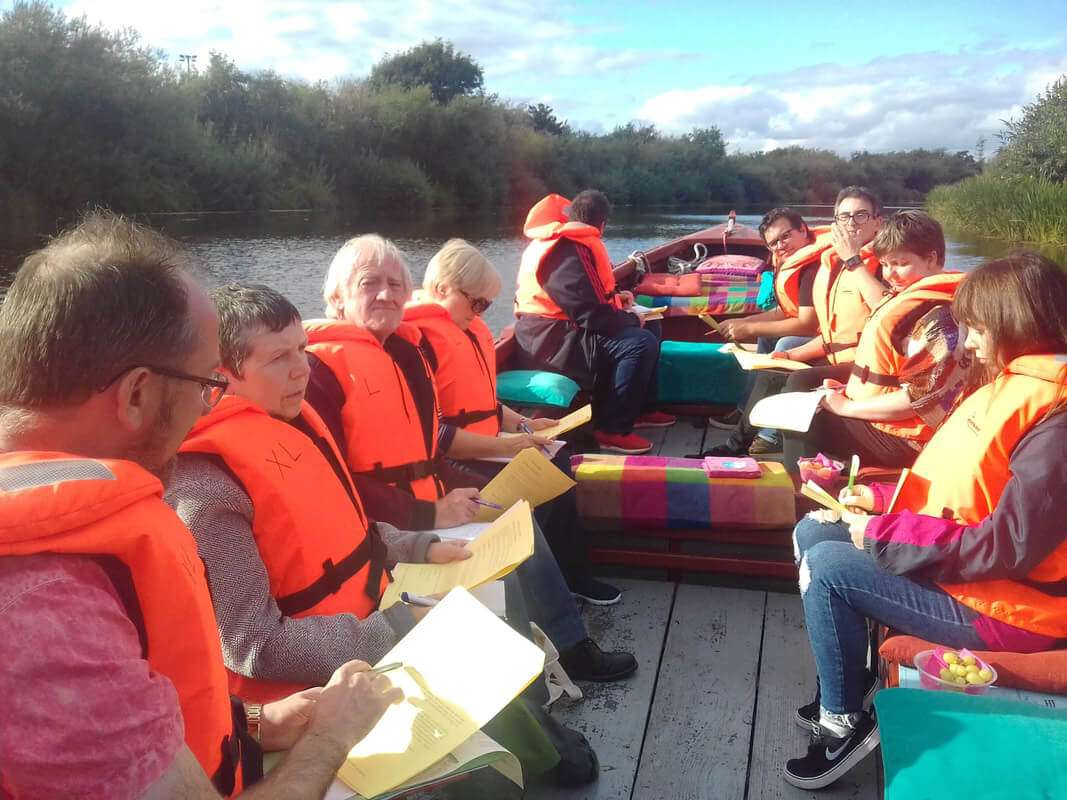 Poetry Class with passengers on a boat trip