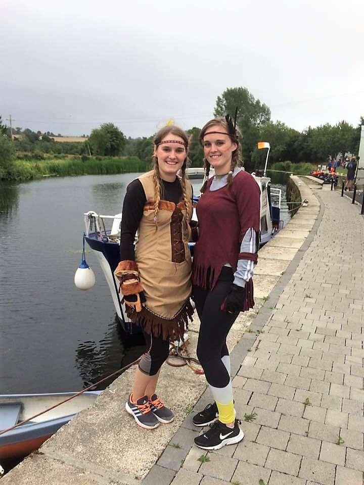 Sarah and Alison McGrath dressed as Indians at Goresbridge