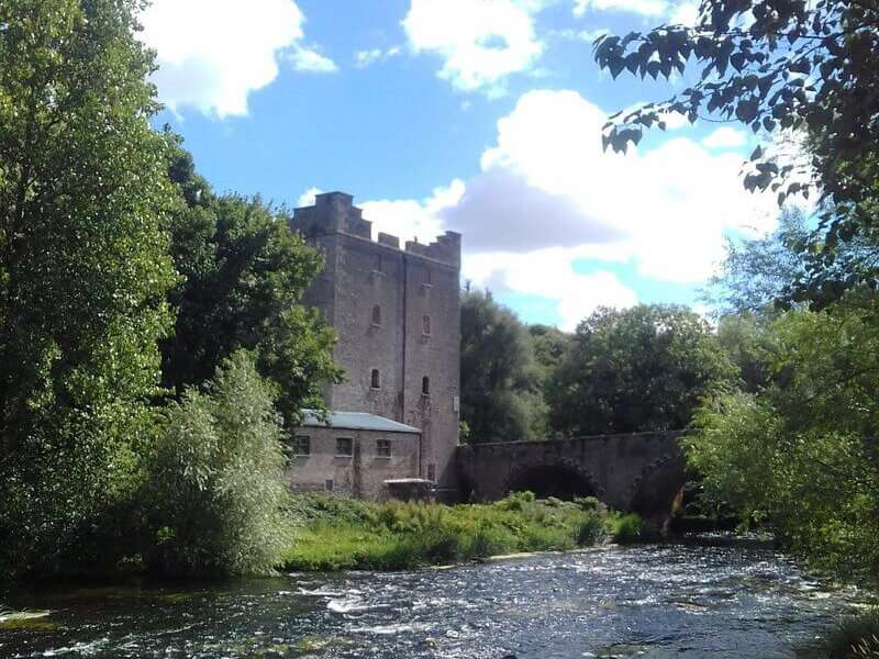 Old derelict mill on river Barrow