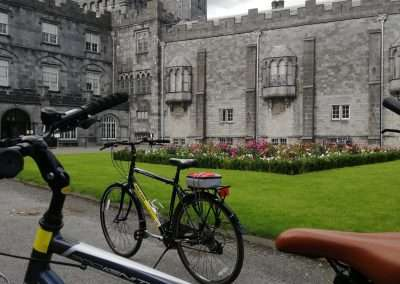 Bikes outside Kilkenny Castle