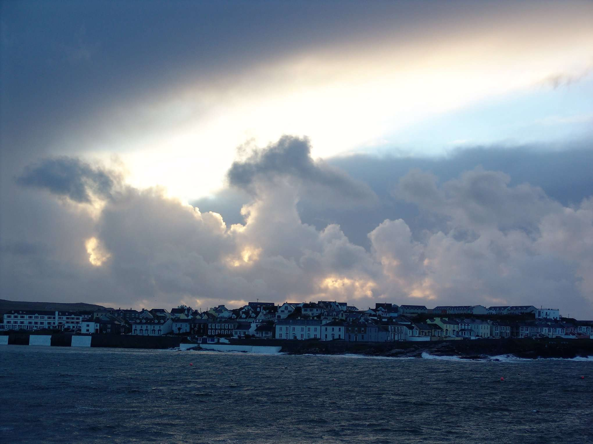 Kilkee in county Clare fronting onto the Atlantic sea