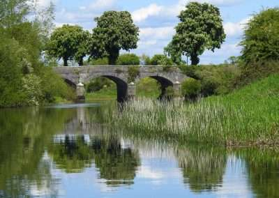 Bert Bridge over the river Barrow on a sunny summers day