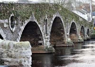 Side view of Graiguenamanagh Bridge on the river Barrow