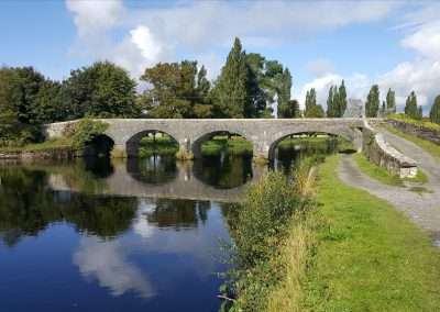 Up stream view of the Horse Bridge on the river Barrow at Athy, county Kildare, Ireland