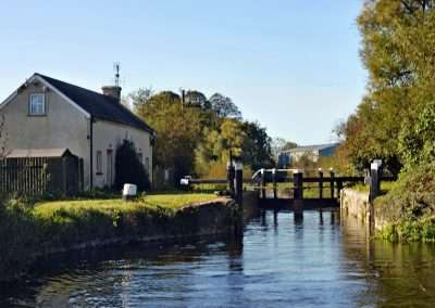 Maganey Lockhouse and Lock in county Kildare on a summers day.