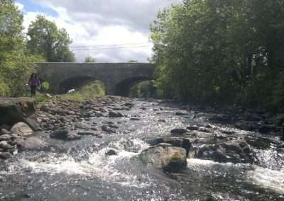 Bridge over a shallow river barrow at Tinnahinch