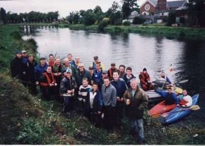 Volunteers of the first river Barrow Clean-Up in Athy, county Kildare in 1999