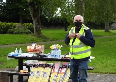 John Lynch at the start of the annual River Barrow Clean-Up in Athy 2021