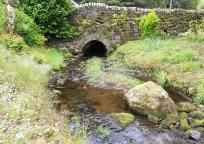 River Nore flowing under a bridge at the Holywell Mill House in county Tipperary
